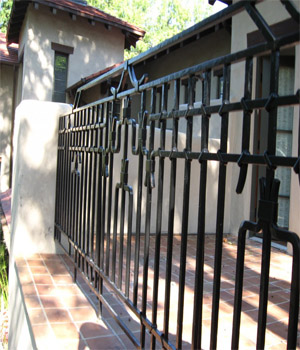 Tubular Powder Coated Steel Fencing Hobart
